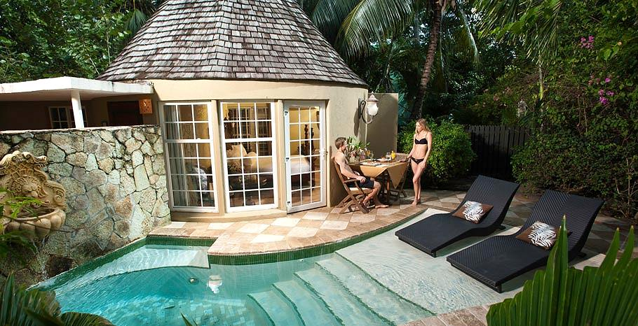 Honeymoon Garden Rondoval With Private Plunge Pool From